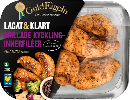 Grillad kycklinginnerfile BBQ 200 g