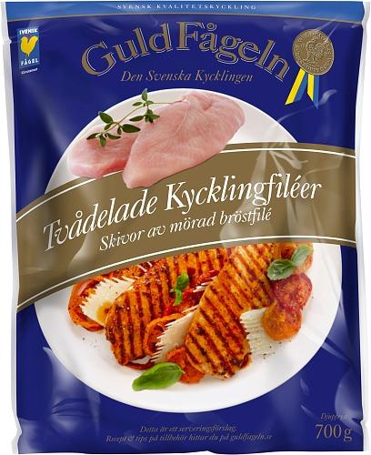 Tvådelade Kycklingbröstfilé 700 g